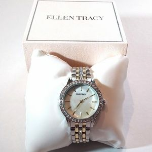 Ellen Tracy Accessories - ELLEN TRACY Crystal Embellished Watch